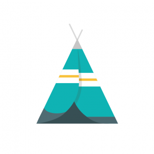 Teepee (white background)