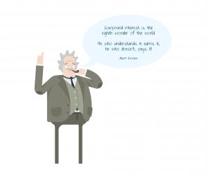 Einstein & compound interest quote - wb