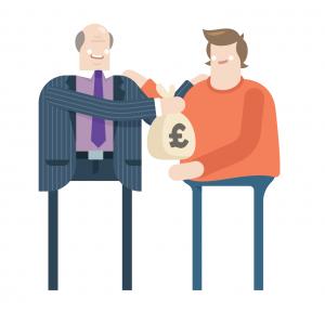 Commercial borrowing - money handover