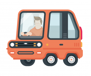 Graduate car - orange - wb