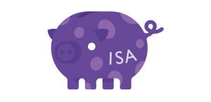 ISA piggy bank - wb