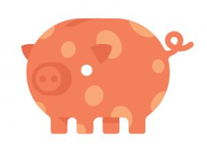 Orange spotty pig