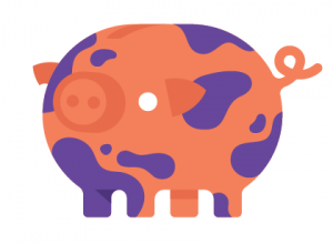 Pig_orange camouflage