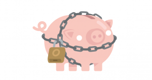 Chained pig - cropped-wb