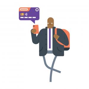 Mobile Banking Man - wb