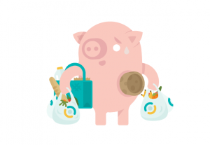 living-costs-pig-with-teal-bags-cropped