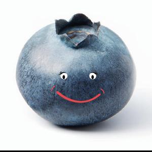 Happy blueberry
