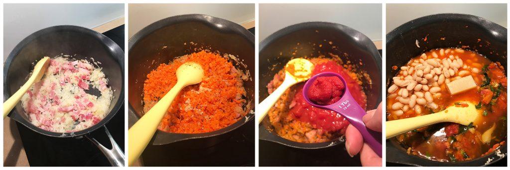 Tuscan Winter Warming Soup - Process Photos