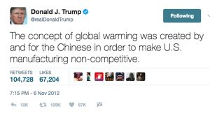 Donald Trump climate change tweet