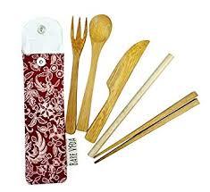 Bare Vida bamboo cutlery set