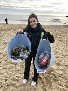 Student on Beach Clean