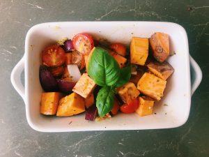 Sweet potato ready to bake