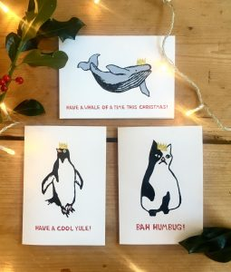 Cassie illustrated Christmas cards