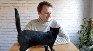 Alex and kitten