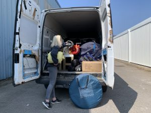 Volunteering at refugee camp